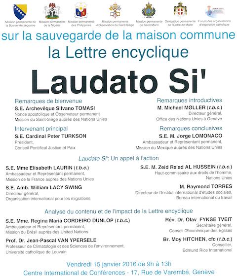 Rencontre Laudato Si 2016.01.15